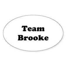 Team Brooke Oval Decal