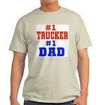 #1 Trucker Dad! Ash Grey T-Shirt