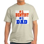 #1 Dentist Father's Day Ash Grey T-Shirt