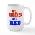 Trucker Dad Large Mug