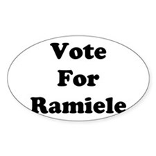 Vote For Ramiele Oval Decal