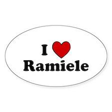 I Heart Ramiele Oval Decal