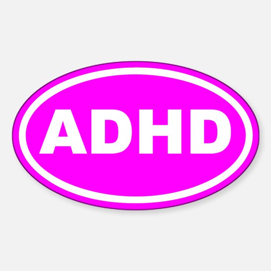ADHD Pink Euro Oval Decal