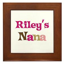 Riley's Nana  Framed Tile