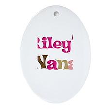 Riley's Nana  Oval Ornament