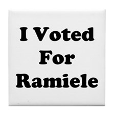 I Voted For Ramiele Tile Coaster