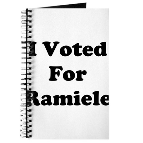 I Voted For Ramiele Journal