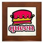 Funky Queen Crown Framed Tile
