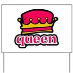 Funky Queen Crown Yard Sign