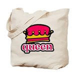 Funky Queen Crown Tote Bag