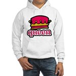 Funky Queen Crown Hooded Sweatshirt