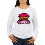 Funky Queen Crown Women's Long Sleeve T-Shirt
