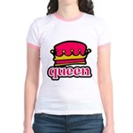 Funky Queen Crown Jr. Ringer T-Shirt