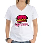 Funky Queen Crown Women's V-Neck T-Shirt