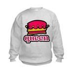 Funky Queen Crown Kids Sweatshirt