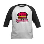 Funky Queen Crown Kids Baseball Jersey