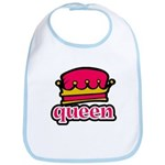 Funky Queen Crown Bib