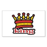 Funky King Crown Rectangle Sticker