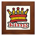 Funky King Crown Framed Tile