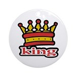 Funky King Crown Ornament (Round)