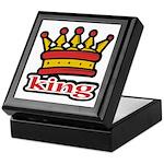 Funky King Crown Keepsake Box