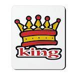 Funky King Crown Mousepad