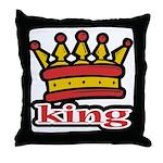 Funky King Crown Throw Pillow