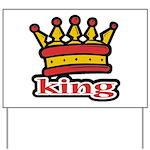 Funky King Crown Yard Sign