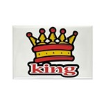 Funky King Crown Rectangle Magnet