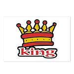 Funky King Crown Postcards (Package of 8)