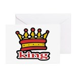 Funky King Crown Greeting Cards (Pk of 10)