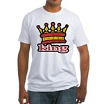 Funky King Crown Fitted T-Shirt