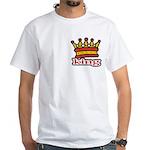 Funky King Crown White T-Shirt