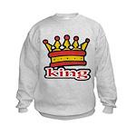 Funky King Crown Kids Sweatshirt