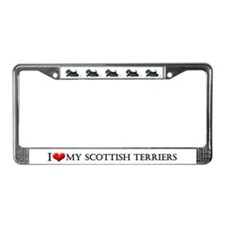 Scottish Terrier Auto Dog License Plate Frame
