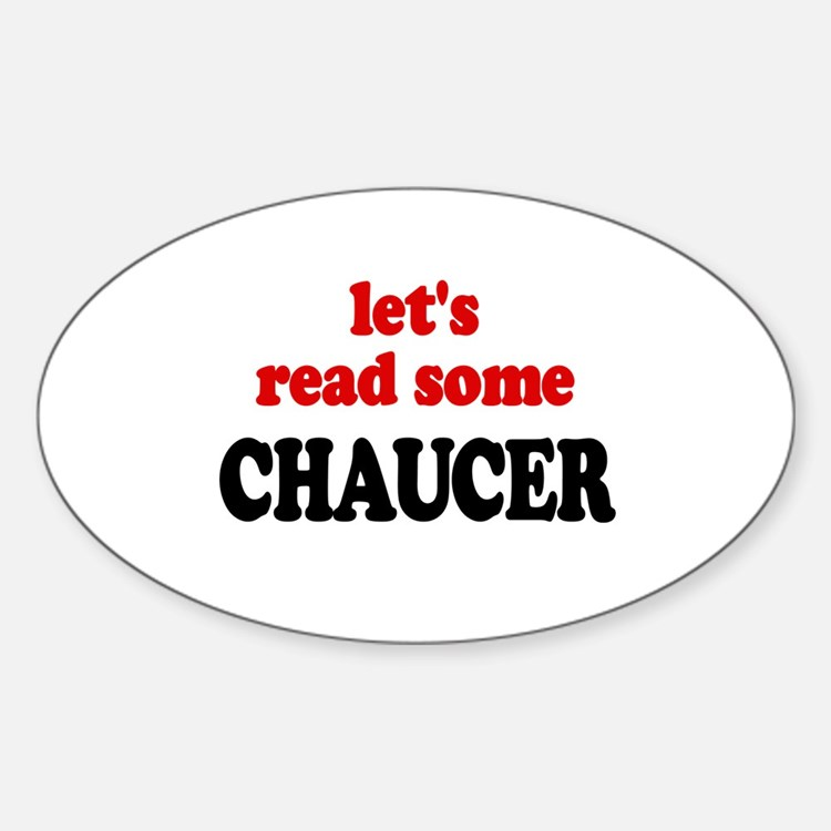 Let's Read Chaucer Oval Decal