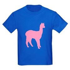 pink standing alpaca T