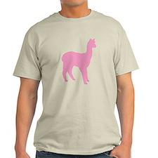 pink standing alpaca T-Shirt