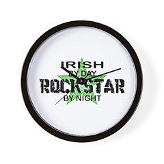 Irish RockStar by Night Wall Clock