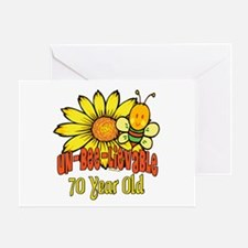 Un-Bee-Lievable 70th Greeting Card