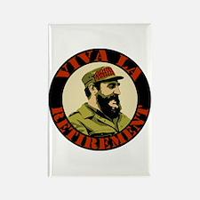 Castro Viva La Retirement Rectangle Magnet