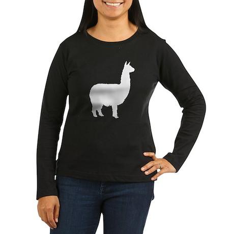 alpaca Women's Long Sleeve Dark T-Shirt