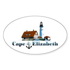 Cape Elizabeth Oval Decal