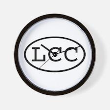 LCC Oval Wall Clock