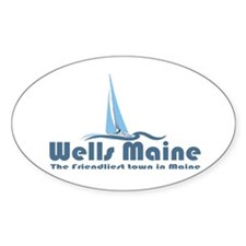Wells Maine Oval Decal