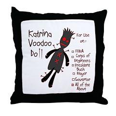 Katrina Voodoo Doll Throw Pillow