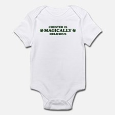 Chester is delicious Infant Bodysuit