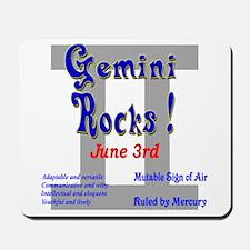 Gemini June 3rd Mousepad