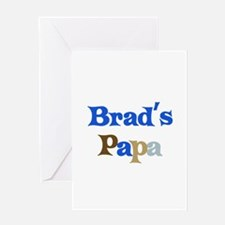 Brad's Papa Greeting Card