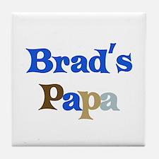 Brad's Papa Tile Coaster